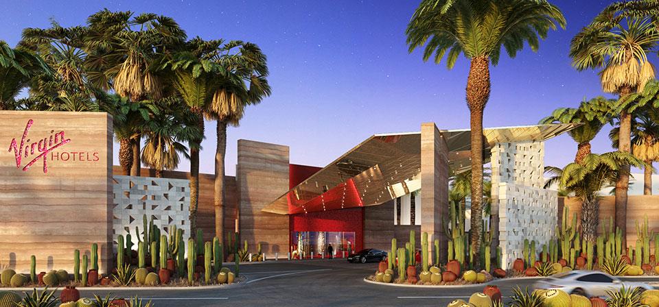 Virgin Hotel Las Vegas - entrance rendering (Virgin)