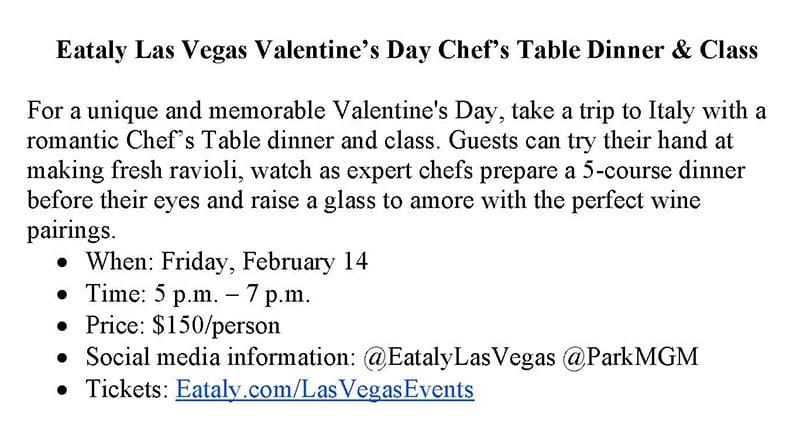 Eataly Las Vegas Valentine