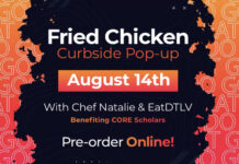 Chef Natalie Young's Fried Chicken Curbside Pop Up Benefits Non-Profit Core