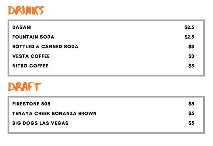 Goodwich Las Vegas menu - drinks, draft