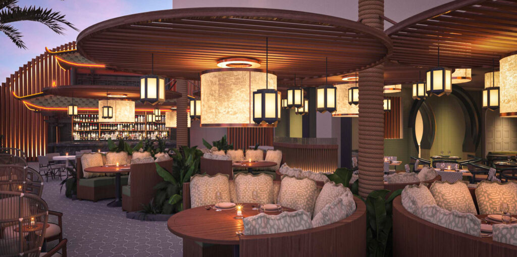 Resorts World Las Vegas - Fuhu - Patio Rendering