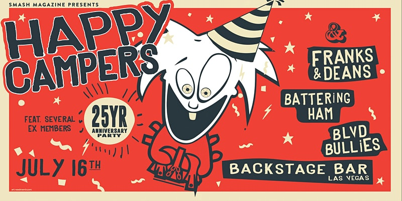 Skank On and Celebrate 25th Anniversarywith Local Band Happy Campers at Backstage Bar & Billiards July 16